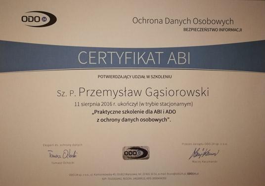 Certyfikat administrator bezpieczeństwa informacji